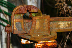 Old rusty blacksmith vise. Royalty Free Stock Images