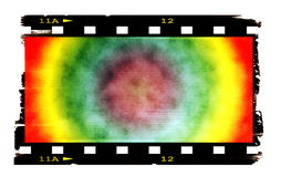 Old rusty blank colorful film strip isolated Royalty Free Stock Image