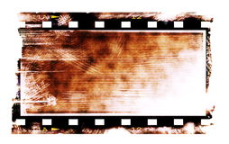 Old rusty blank film strip isolated. On white background Royalty Free Stock Photo
