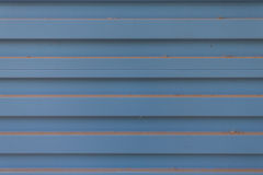 Old rusty blue corrugated metal wall Royalty Free Stock Photo