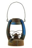 Old and rusty blue vintage oil lamp Royalty Free Stock Photography
