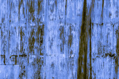 Old rusty bluish-yellowish iron wall background Royalty Free Stock Images