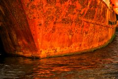 Old rusty boat Royalty Free Stock Photos