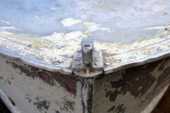 Old rusty boat bow, scraped, vintage, colorful. For any background stock photos