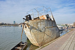 Old rusty boat Royalty Free Stock Images