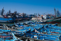 Old rusty boats in Essaouira, Morocco Royalty Free Stock Image