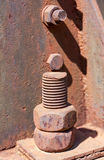 Old rusty bolt Stock Photo
