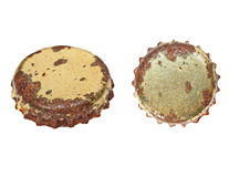 Old rusty bottle cap isolated Stock Photos