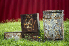 Old rusty box Royalty Free Stock Photo