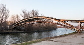 Old rusty bridge Stock Images