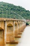 Old rusty bridge between laos and thailand stock images