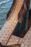 Old rusty bridge with rivets Royalty Free Stock Photography