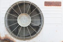 Old rusty broken air conditioner Royalty Free Stock Photography
