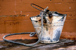 Old rusty bucket Stock Images