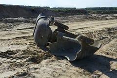 Old rusty bucket giant mining excavators Stock Image