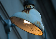 Old rusty building lamp Stock Photos