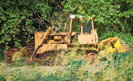 Old rusty bulldozer. Royalty Free Stock Photography