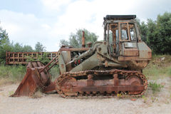 Old rusty bulldozer royalty free stock photography