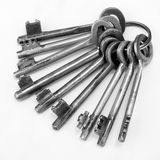 Old rusty bunch of keys Royalty Free Stock Image