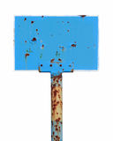 Old rusty bus stop sign Royalty Free Stock Photography