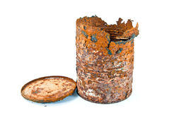 Old rusty can Royalty Free Stock Photo