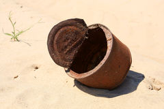 Old rusty can Stock Photo