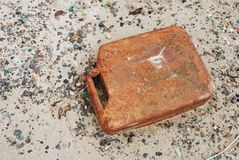 Old rusty canister Royalty Free Stock Images