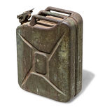 Old rusty canister. Jerrycan isolated on white background, with clipping path Stock Photos