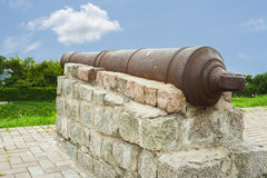 Old rusty cannon Stock Photo