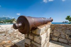 Old rusty cannon gun Stock Photos