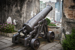 Old rusty cannon Royalty Free Stock Image