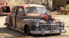 Old and rusty car - BENTON, USA - MARCH 29, 2019. Old and rusty car - BENTON, UNITED STATES - MARCH 29, 2019 stock video footage