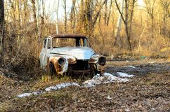 Old rusty car body. On a ground Stock Photography
