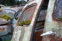 Close up of the back of a rusty old car Stock Photography