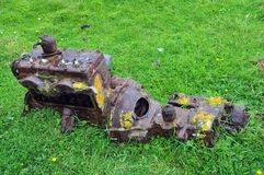 Old rusty car engine Stock Photography