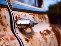 Old rusty car handle Royalty Free Stock Images