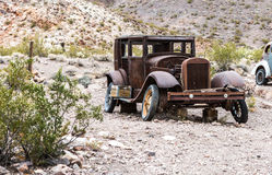 Old rusty car in Nelson Nevada ghost town Stock Photos