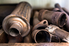 Old and rusty car parts Stock Photography
