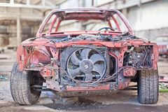 Old Rusty Car Without Doors Royalty Free Stock Photos