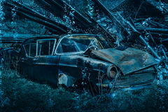 Old rusty car wreck Royalty Free Stock Photo
