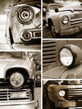 Old rusty cars head lamp Royalty Free Stock Photo