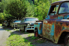 Old rusty cars Royalty Free Stock Photo