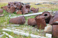 Old rusty casks Royalty Free Stock Photo