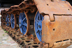 The old rusty caterpillar Stock Images