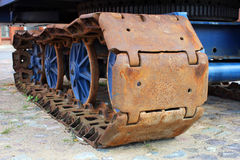 The old rusty caterpillar Royalty Free Stock Images