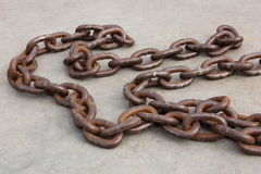 Old rusty chain Stock Image