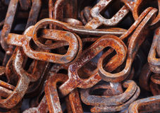 Old rusty chain. Close up Stock Photo