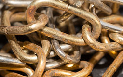 Old rusty chain as a background Royalty Free Stock Photo