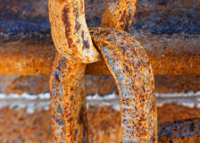 Old rusty chain close up Stock Photos