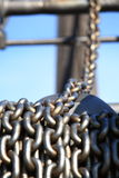 Old rusty chain and crane industry machine Royalty Free Stock Image